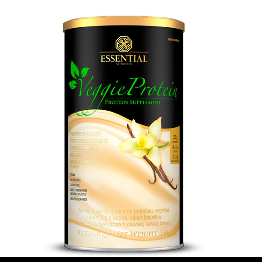 Veggie Protein 450g - Sabor Baunilha - Essential Nutrition