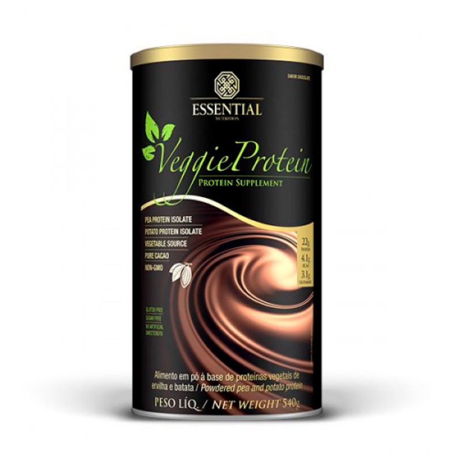 Veggie Protein 540g - Sabor Chocolate - Essential Nutrition