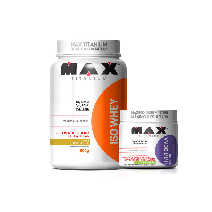07ed5be4c Iso Whey 900g + Bcaa Drink 4 1 1 280g - Max Titanium - Nutracorpore