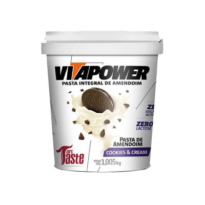 Pasta de Amendoim Cookies & Cream Vitapower
