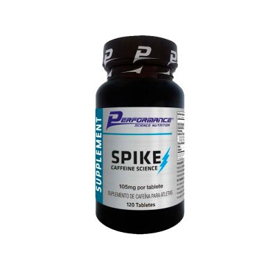 spike cafeina 120 tabletes performance nutrition
